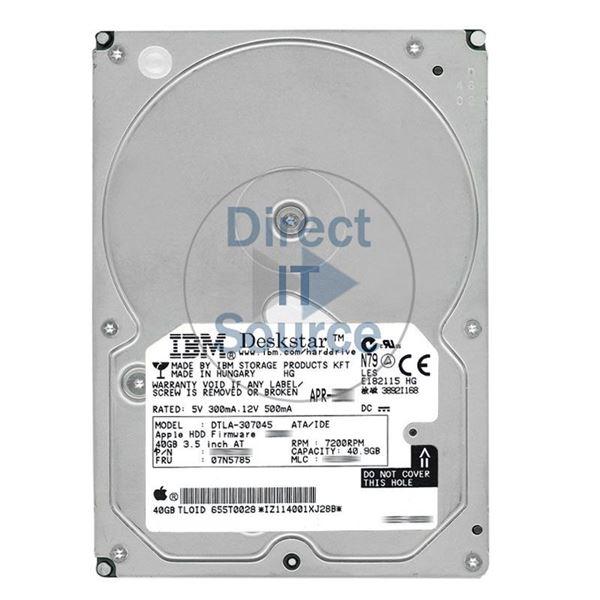 IBM 07N5785 - 40 9GB 7 2K IDE 3 5