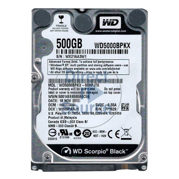 Wd Wd5000bpkx 00hpjt0 500gb 7 2k Sata 6 0gbps 2 5 16mb Cache Hard Drive